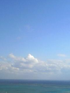2009年初めての青い空に青い海☆