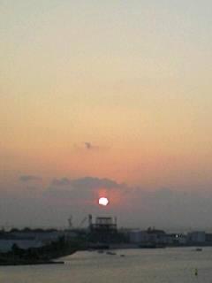 ようやく初夕日!