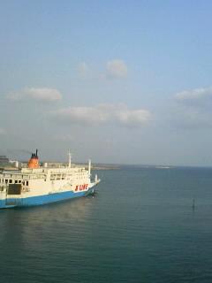 与論島方面への船