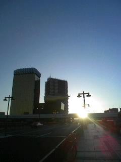 浅草・吾妻橋の初日の出