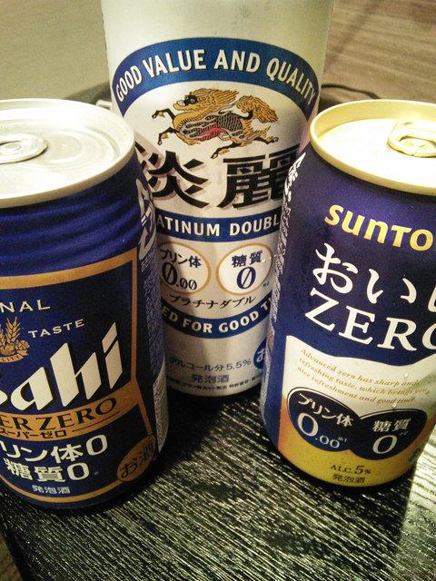 ゼロ系ビール飲み比べ