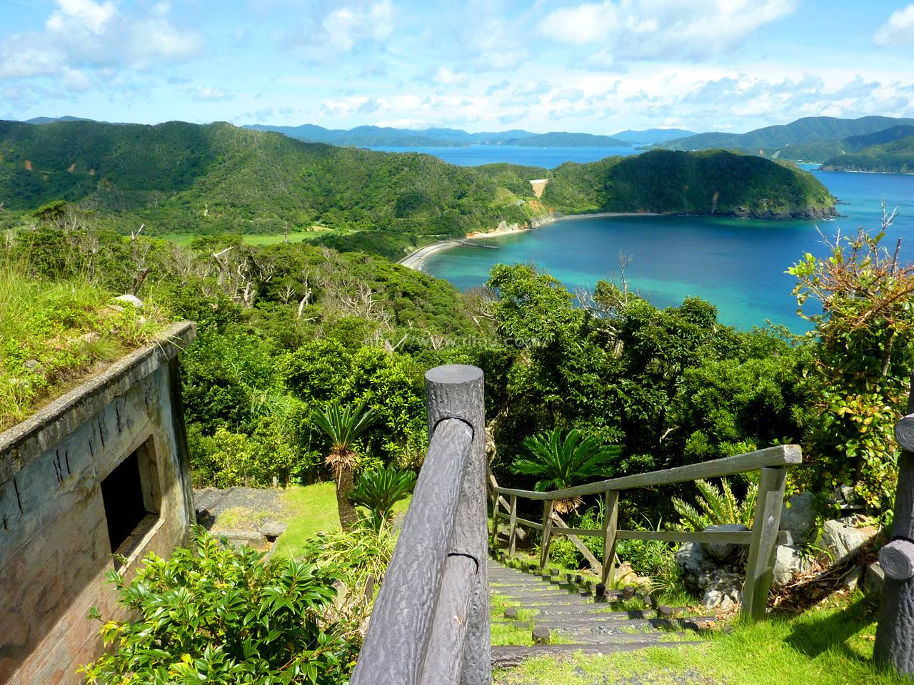 安脚場から見た大島海峡