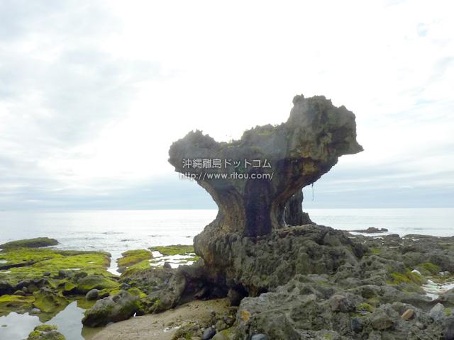 徳之島「小原海岸」のハート岩?