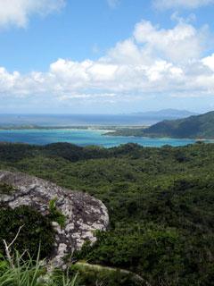 山頂からの景色(底地ビーチ)