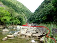 奄美大島「タンギョの滝入口」