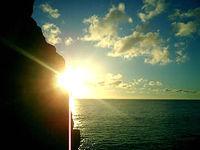 加計呂麻島「西阿室の夕日スポット」