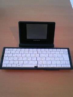 ポメラのキーボードを開いたとき