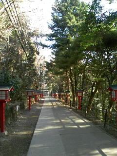 高尾山1号路下山道