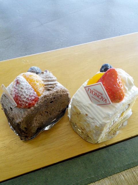城乃屋ホワイト&チョコロールケーキ