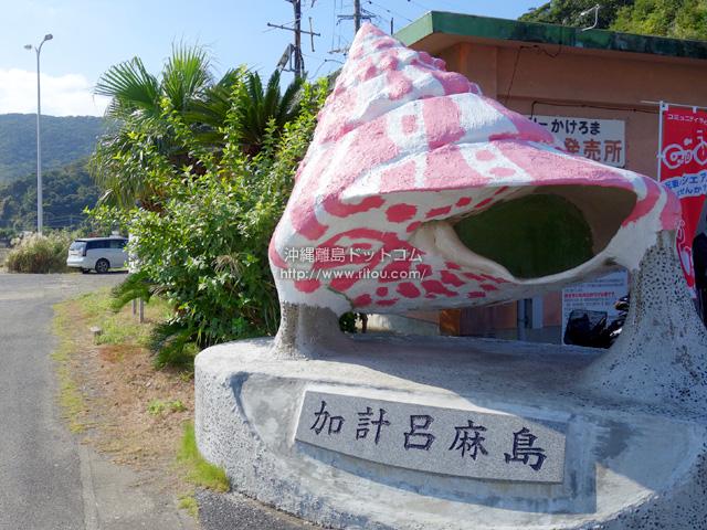加計呂麻島のメインの港「瀬相港」