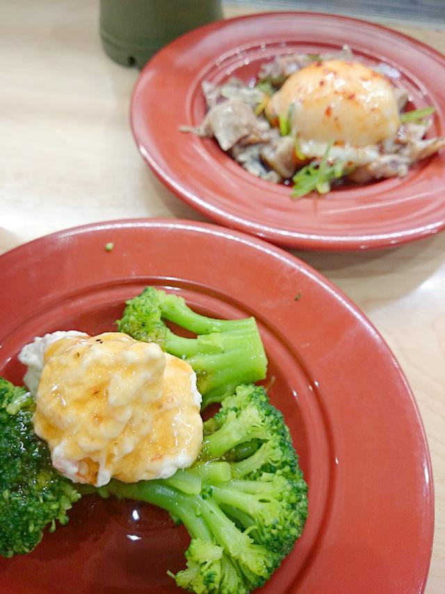 ブロッコリーサラダ&海鮮ユッケ