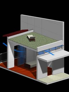 エアコン要らずの空間構成・窓配置