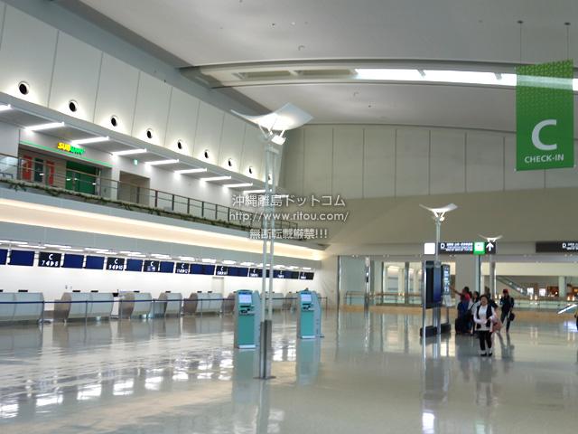連結ターミナルの国際線側は運用前!閑散とするロビー上にサブウェイ?