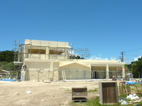 【新城島】パナリに大きな公民館施設建設中