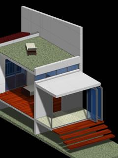 開放感が高く、外部空間とも一体的に活用できる廊下