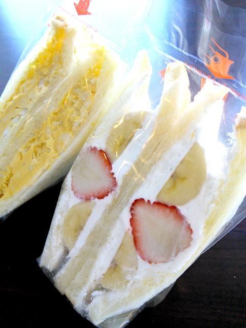 サンドイッチカフェあまみ フルーツサンドとタマゴサンド