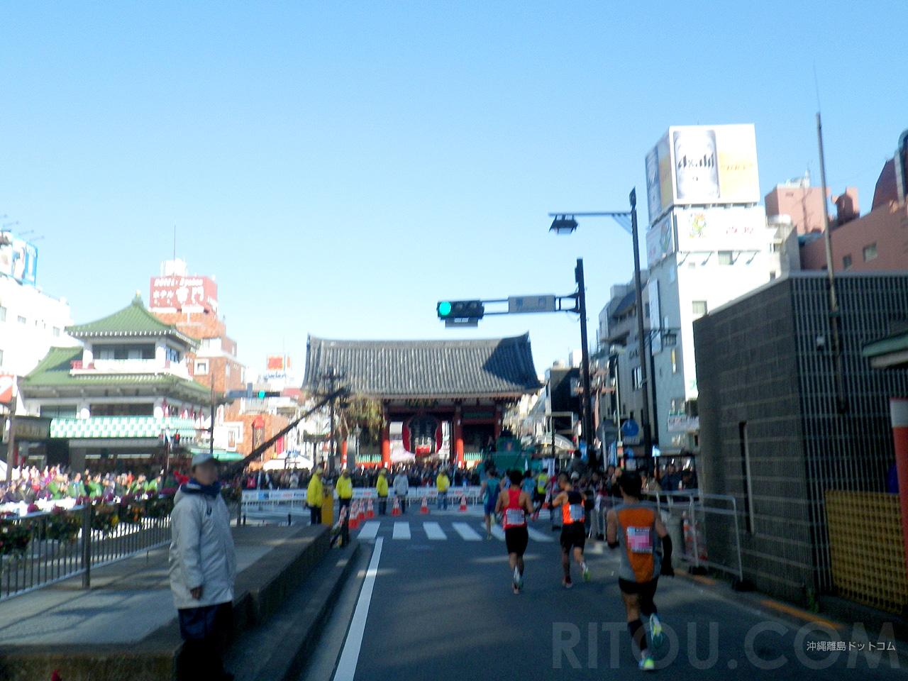 【14.8km】浅草の雷門へ向かって走る!