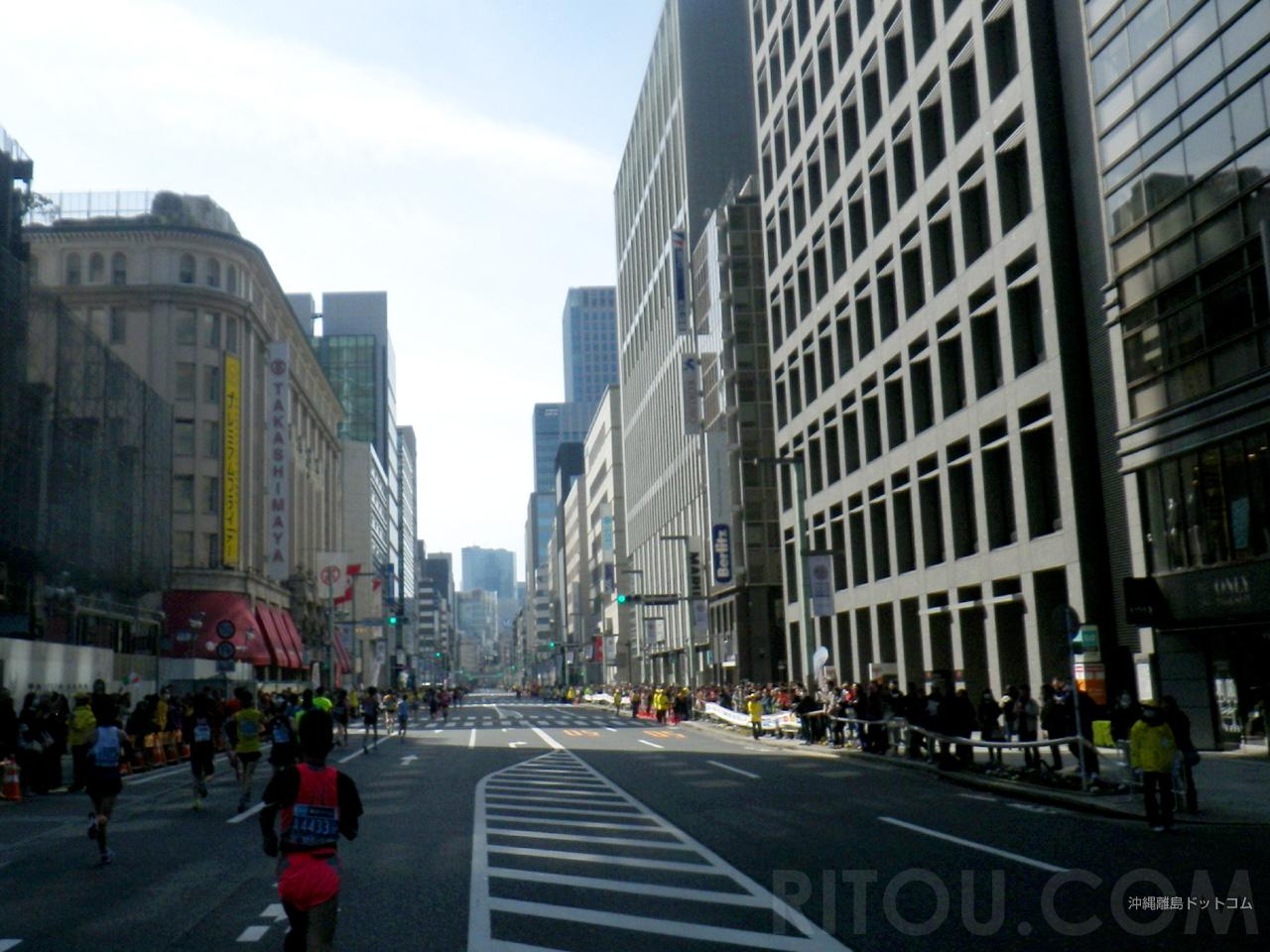【28.5km】中央通りを日本橋から銀座へ向けて走る!
