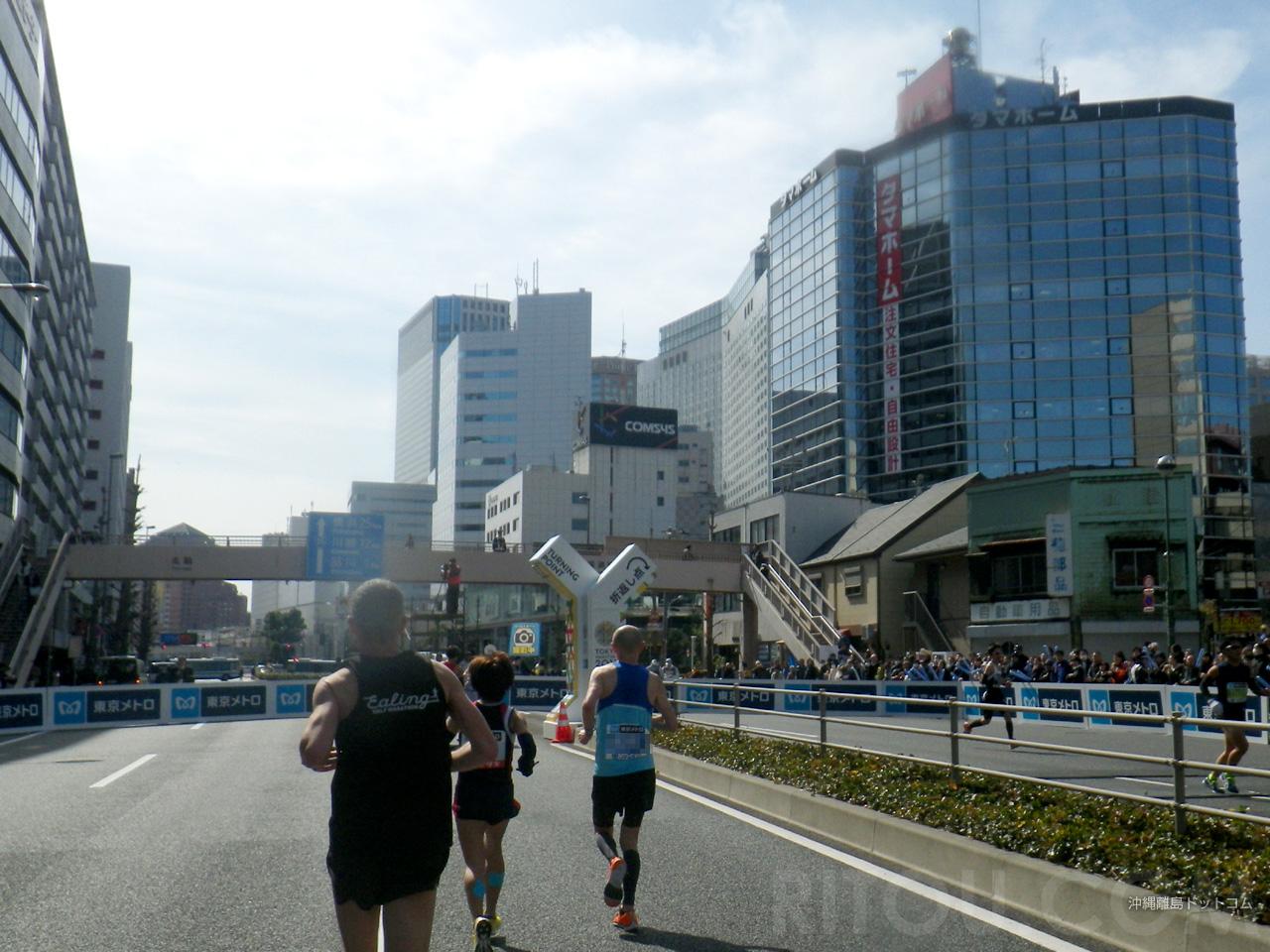 【35.7km】品川駅手前の品川折り返し地点