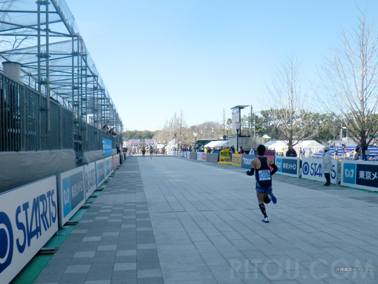 【42.1km】皇居のゴールまであと100m!
