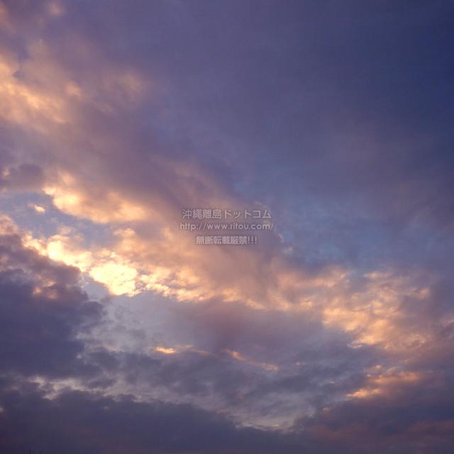 2019/12/09 の夕日/夕焼け