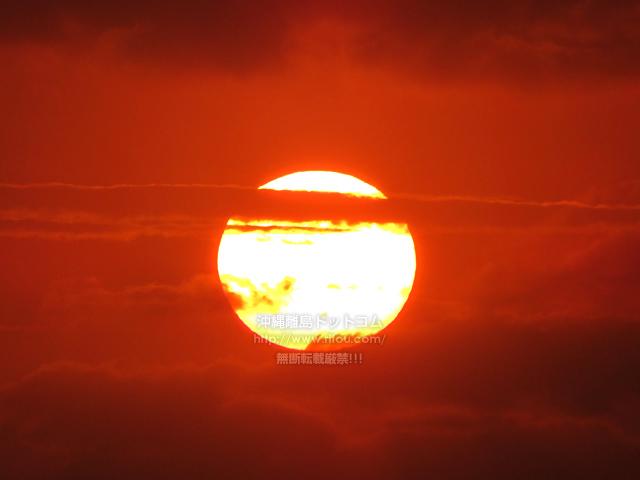 2021/04/11 の夕日/夕焼け