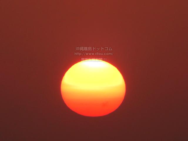 2021/04/12 の夕日/夕焼け