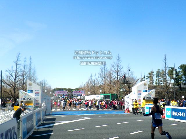 東京マラソン2017新コース・ゴールの皇居