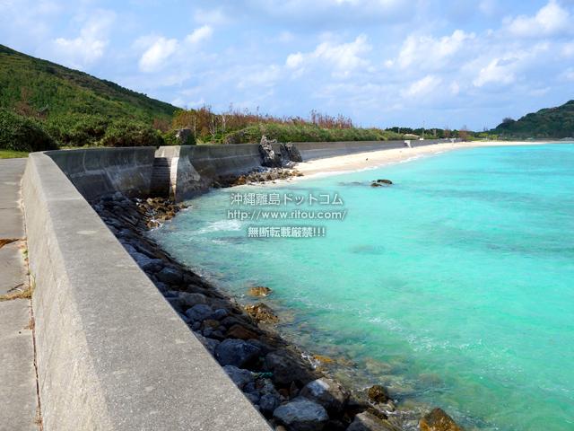東り浜も十分綺麗だけどここまでの道が綺麗過ぎる