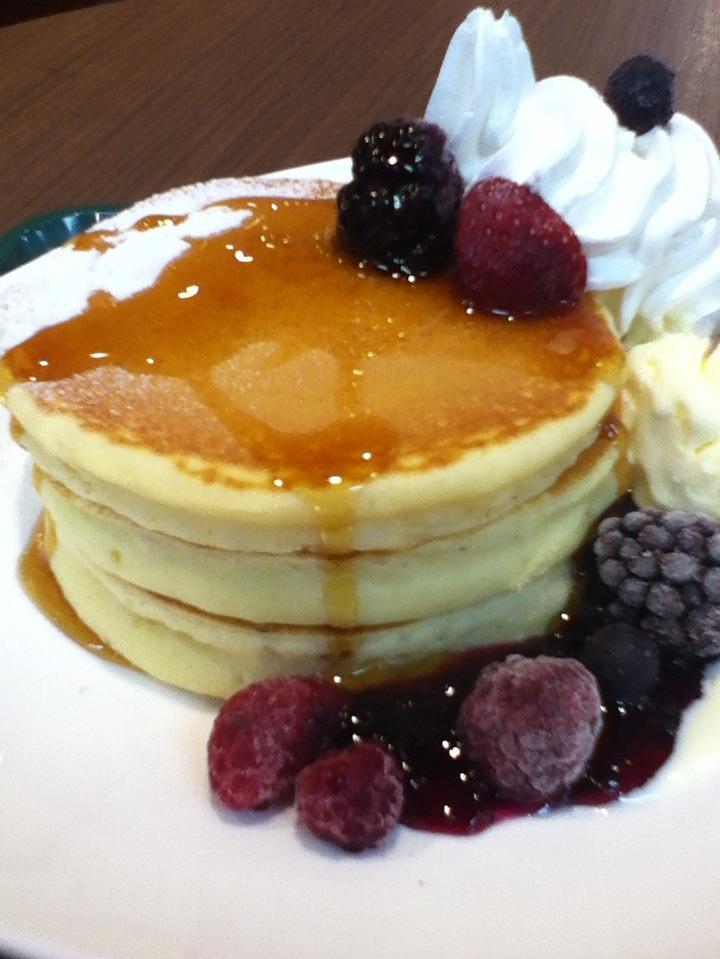 TSUTAYA併設カフェのホットケーキ