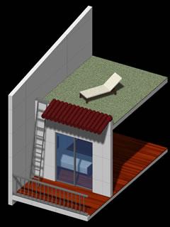 屋根面まで有効利用