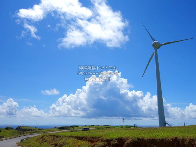 東崎側の風車は稼働