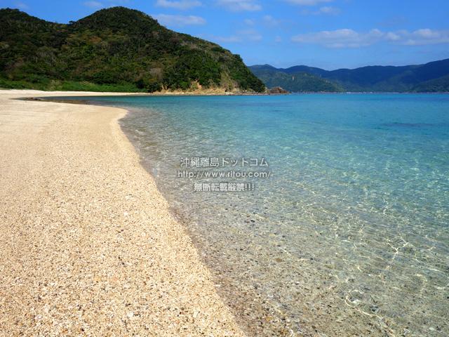 加計呂麻島の芝海岸/芝集落