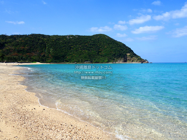 加計呂麻島の実久海岸/実久集落