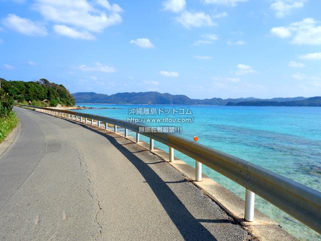 奄美大島の倉崎までのシーサイドロード