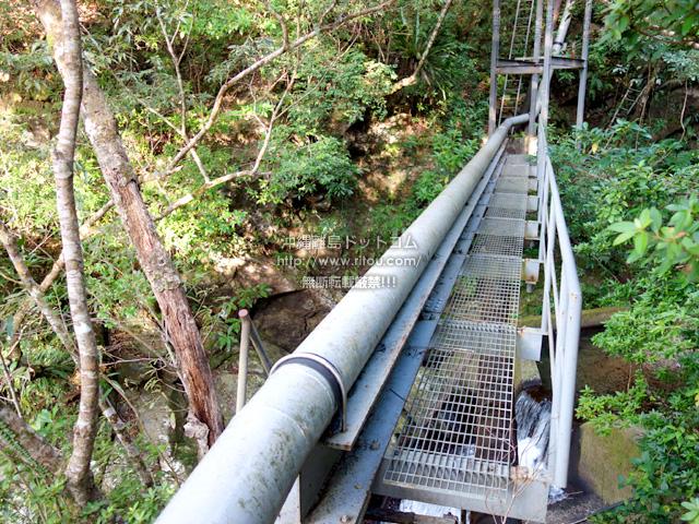 奄美大島のアランガチの滝上/滝上へのルート