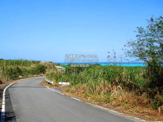 与論島のヨロンマラソン百合が浜ポイント