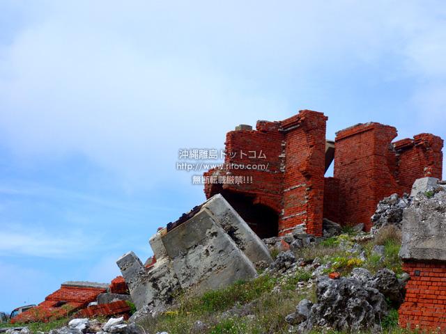 北大東島の燐鉱石の乾燥工場跡