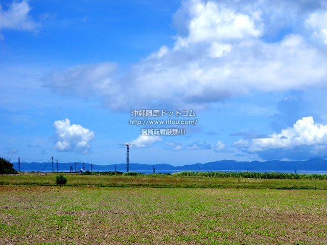 波照間島の可倒式風力発電