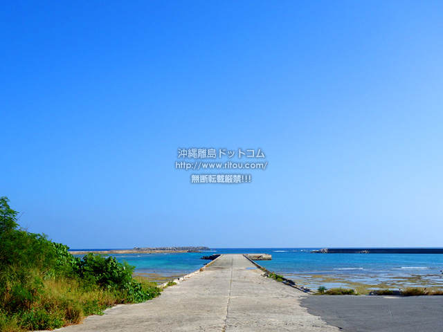 多良間島の朝日の名所/普天間港桟橋