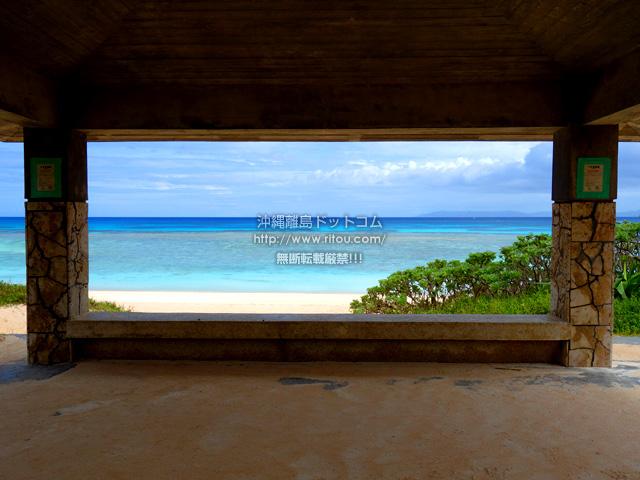 波照間島のニシ浜の吾妻屋