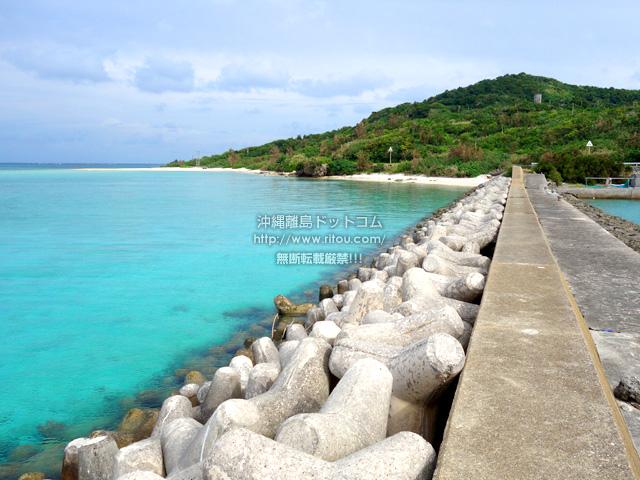 大神島のタカマ/大神港脇の海