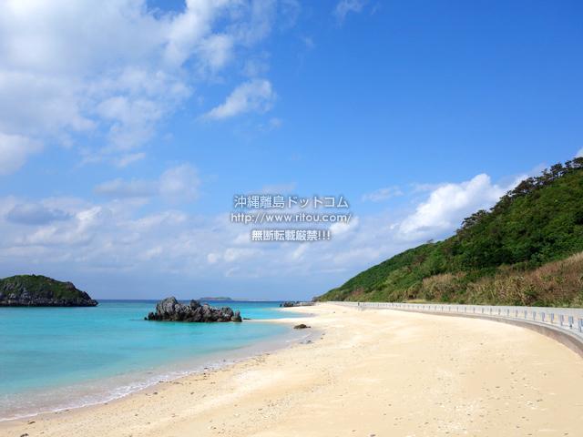 渡名喜島のユブク浜/呼子浜