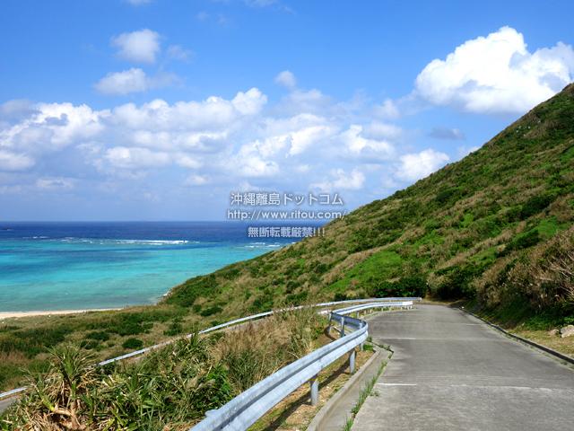 渡名喜島の大岳山道東