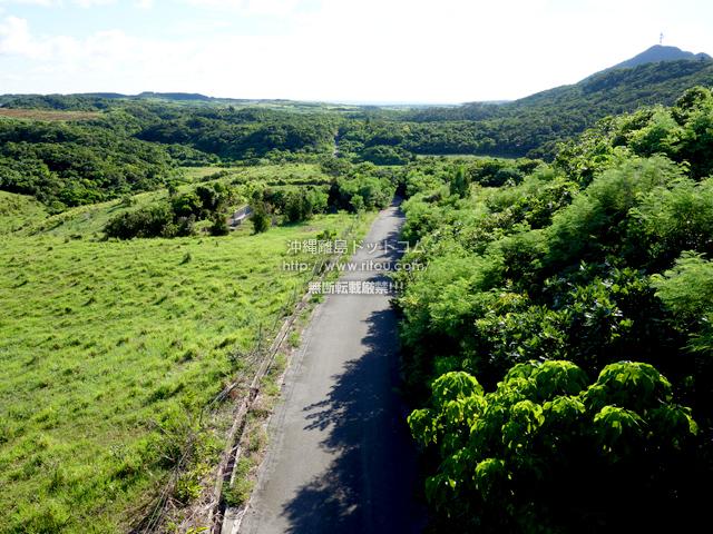 与那国島のDr.コトーの内陸の道と立体交差