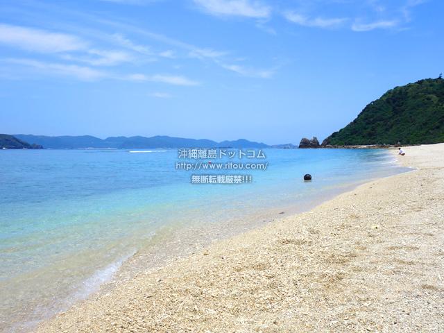 阿嘉島のニシ浜/北浜