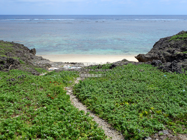 鳩間島の立原浜