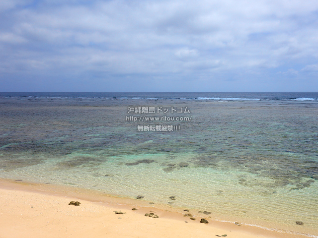 鳩間島の島仲浜