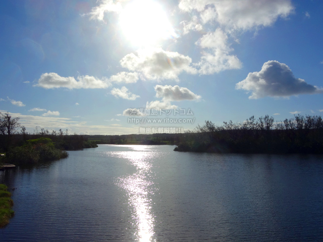 南大東島の瓢箪池/月見池/月見橋