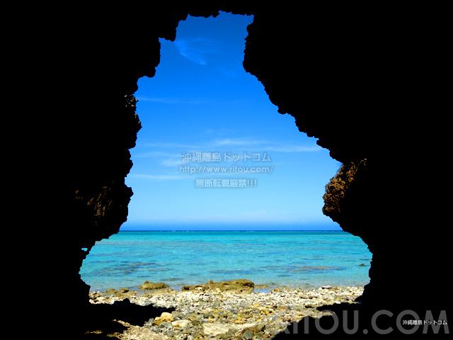 与論島の百合ヶ浜休憩所/タイムトンネル/ゆいの丘